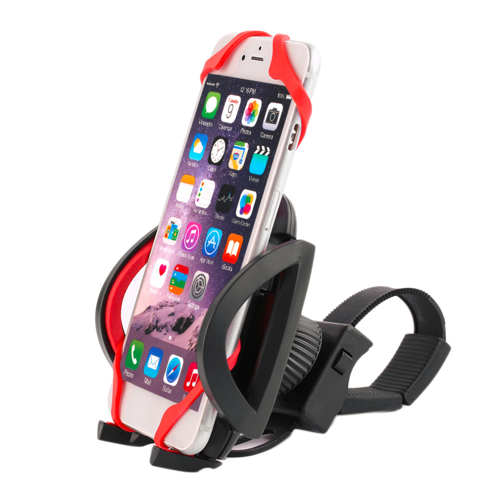 2016 New Plastic HS40+S29 High Quality Bike Bicycle Motorcycle Handlebar Phone Mount Holder With Silicone Support Band Hot Sale