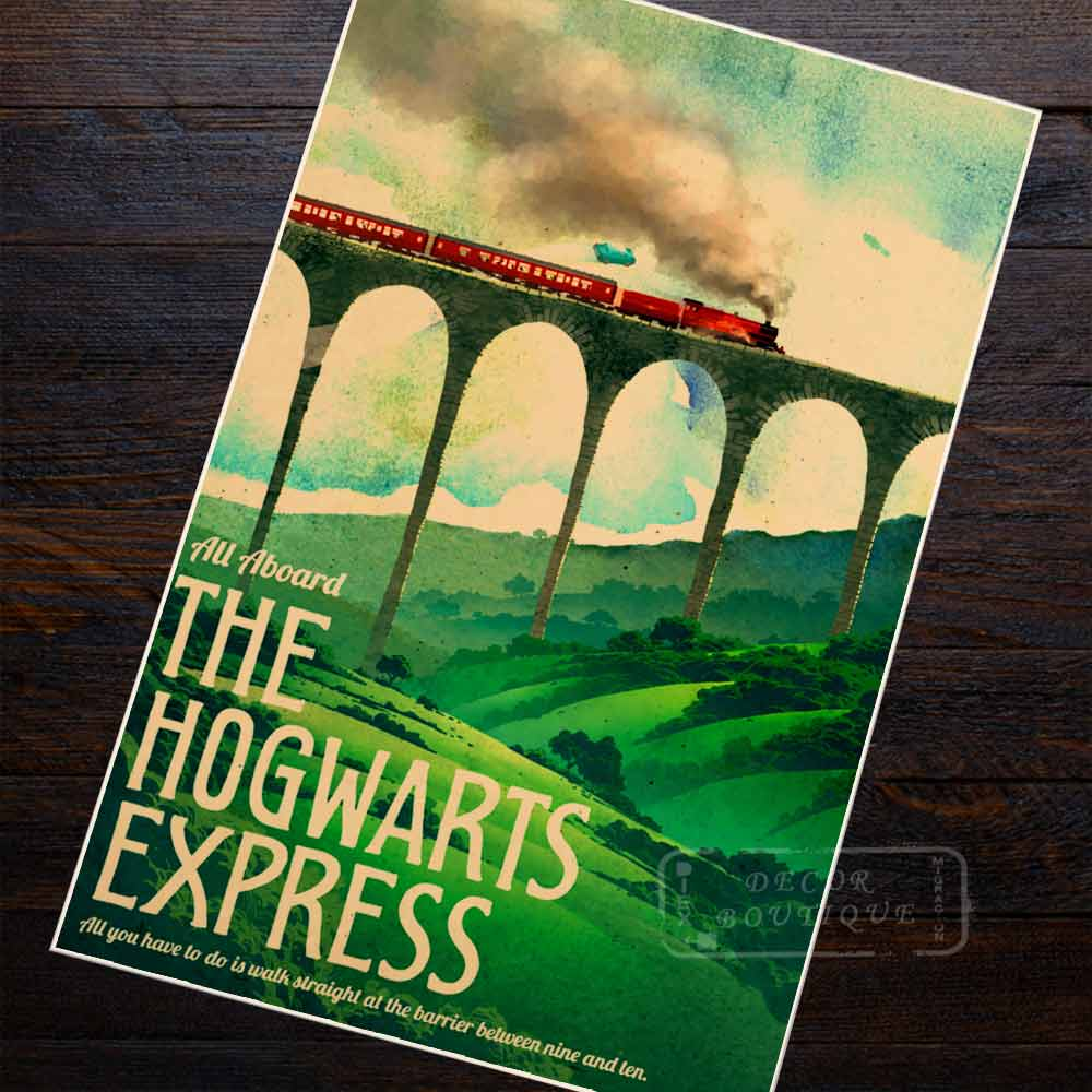 Harry Potter Hogwarts School Hogwarts Express Retro