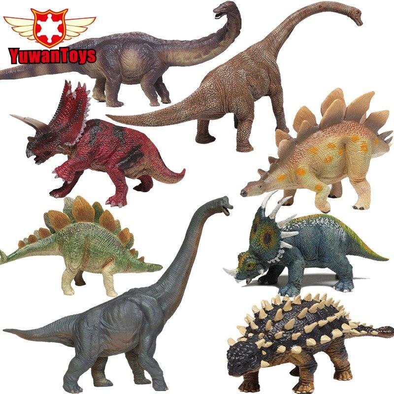 Jurassic Dinosaur Action Figures Toys Herbivorous Series Triceratops Brachiosaurus Mod Hand Painted Boys Favourite