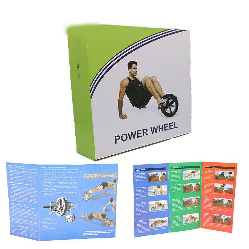(Rueda doble) rueda de potencia de actualización multifuncional núcleo ejercicio doble rueda de músculo Abdominal rueda de energía - 6