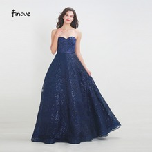Finove Prom Dress 2019 Reflective Floor Length Sexy Dress