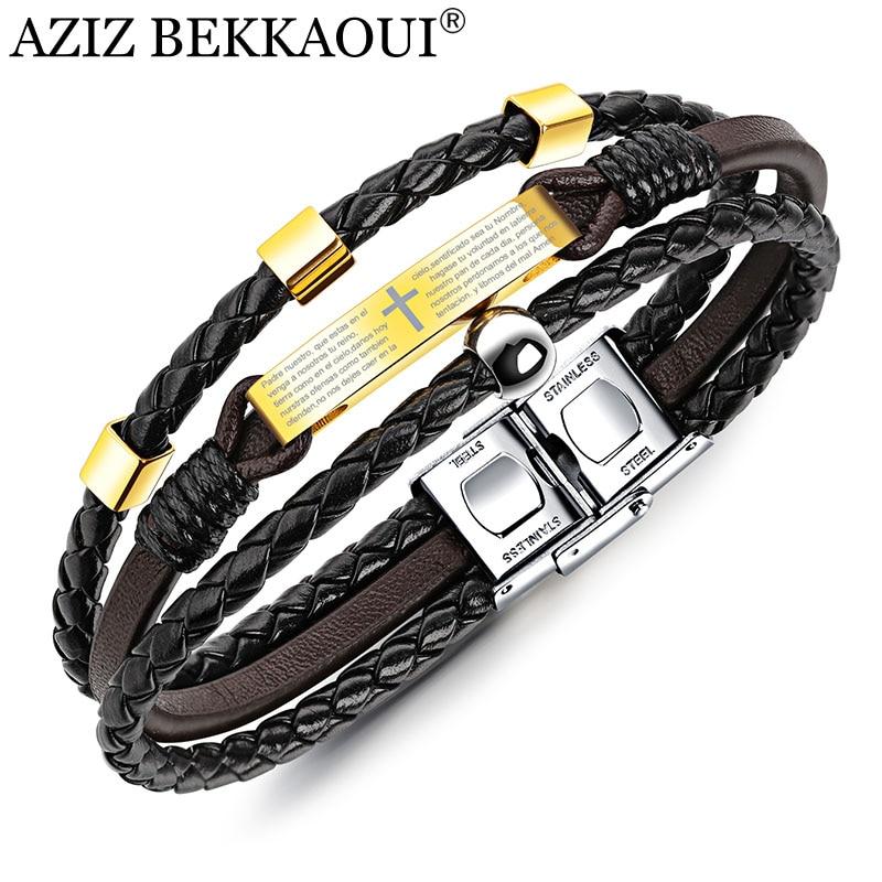 AZIZ BEKKAOUI Black Leather...