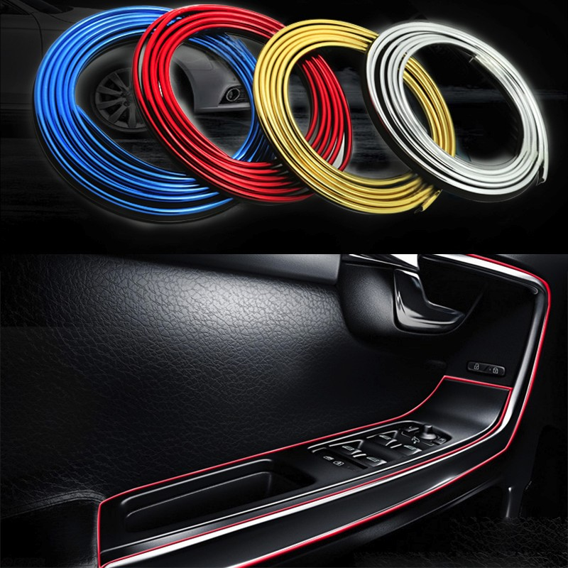 5m Car Sticker Insert type Decorative Thread Decoration Strip for Honda FCX Clarity Fit Aria HR-V Insight Inspire Integra Jazz