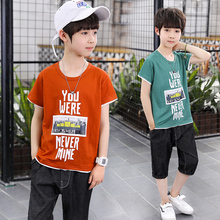 2019 New Summer Boys Clothing Sets 2pcs set T-shirt  Shorts Kids Boy Clothes Set Toddler Boys Clothing Set 4 5 6 7 8 Years цены
