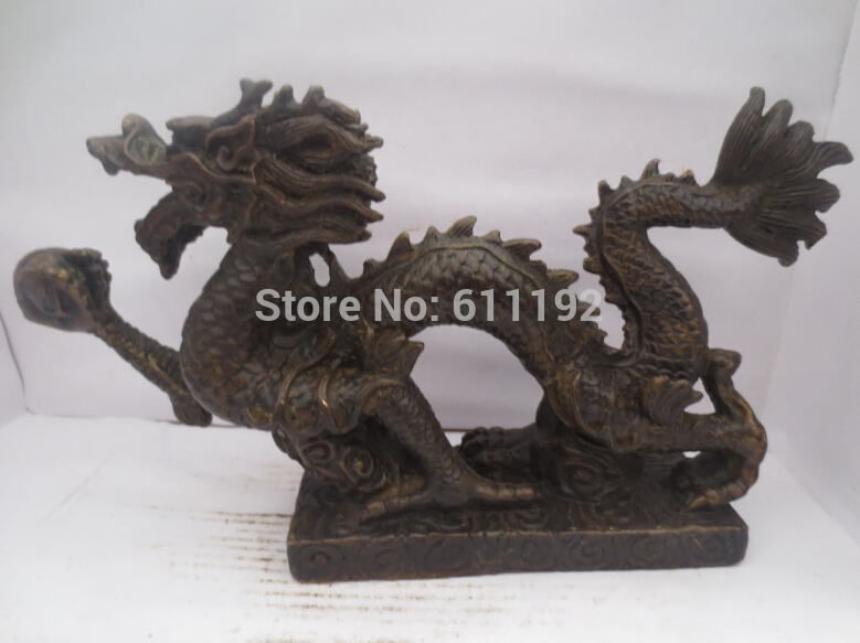 Antique Imitation Home Decoration Hand-carved Bronze Dragon Sculpture/statue Metal Crafts
