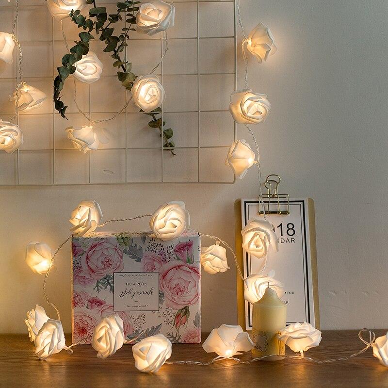 3 м 20 светодиодный USB Powered розовыми цветами светодиодный свет шнура гирляндой на Спальня свадьбы, сад, помещение домой гирлянда украшения ...