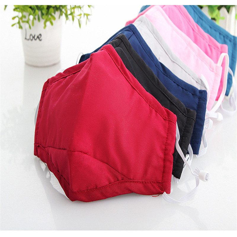 10pcs/Bags Pure Cotton Cloth A Variety Of Options To Ride The Cold Breathable Masks Autumn And Winter Fashion Dust Fog Haze