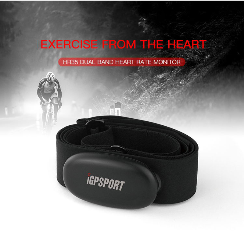 IGPSPORT HR35 Heart Rate Monitor Dual Mode Bluetooth ANT Mountain Biking Wireless Heart Rate Sensor Compatible