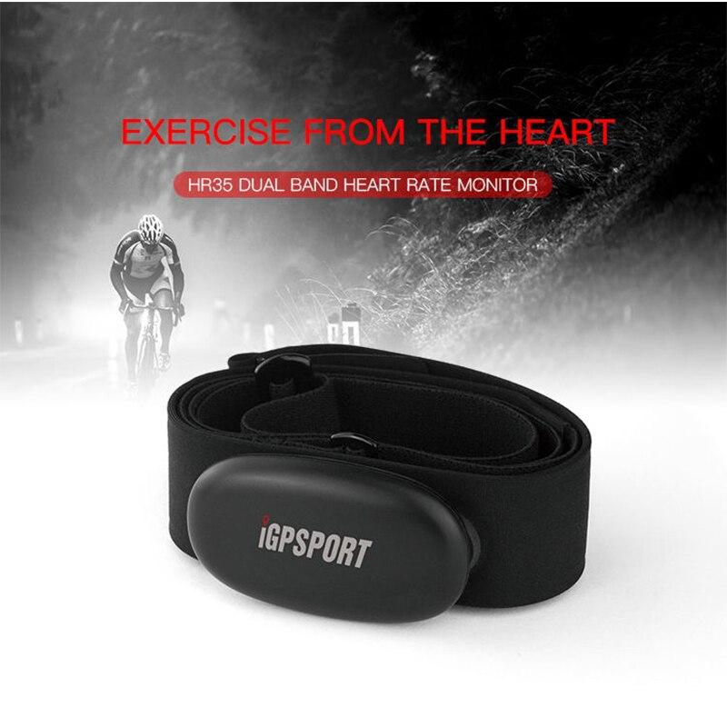 Moniteur de fréquence cardiaque IGPSPORT HR35 double Mode Bluetooth/ANT + capteur de fréquence cardiaque sans fil vtt Compatible avec dispositif ANT +