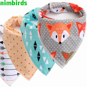 nimbirds Burp Cloth Triangle Baby Bibs Cotton Infant