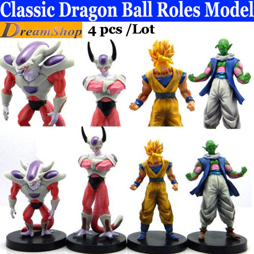Cool Children Toys Gifts Dragon Ball Japanese Animation Goku Doll Piccolo Cell Frieza 4pcs