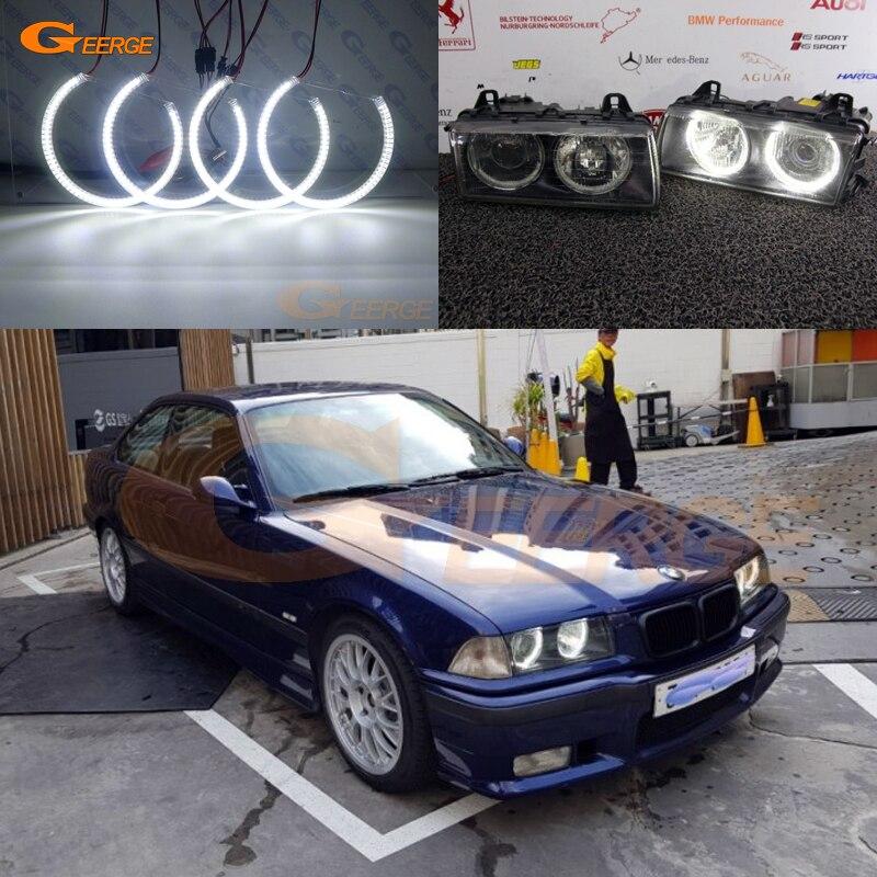 Pour BMW E36 3 Série avec Euro phares 1992-1998 Excellente ange yeux Ultra lumineux SMD led Ange Yeux halo Anneau kit DRL