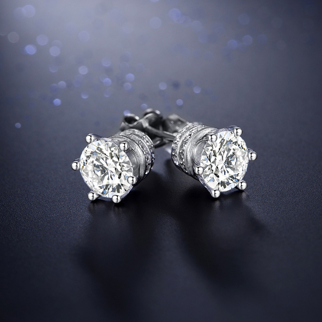 Engagement Stud Earrings Ring Jewelry Set