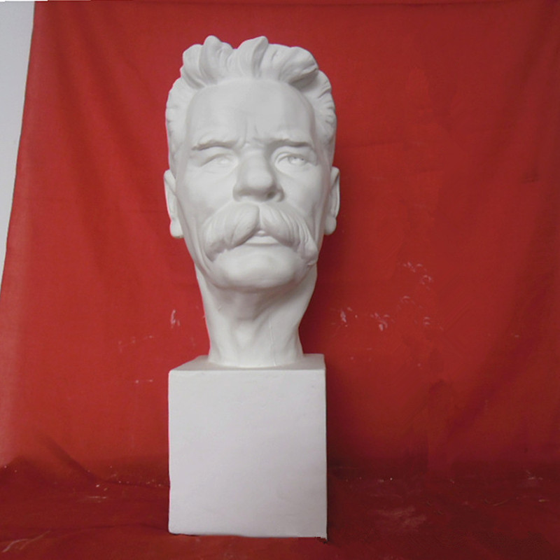 Gypsum Statue Lu Xun Bust Writer Thinker Fine Arts Gypsum Art & Craft Home Decorations 58cm L2285