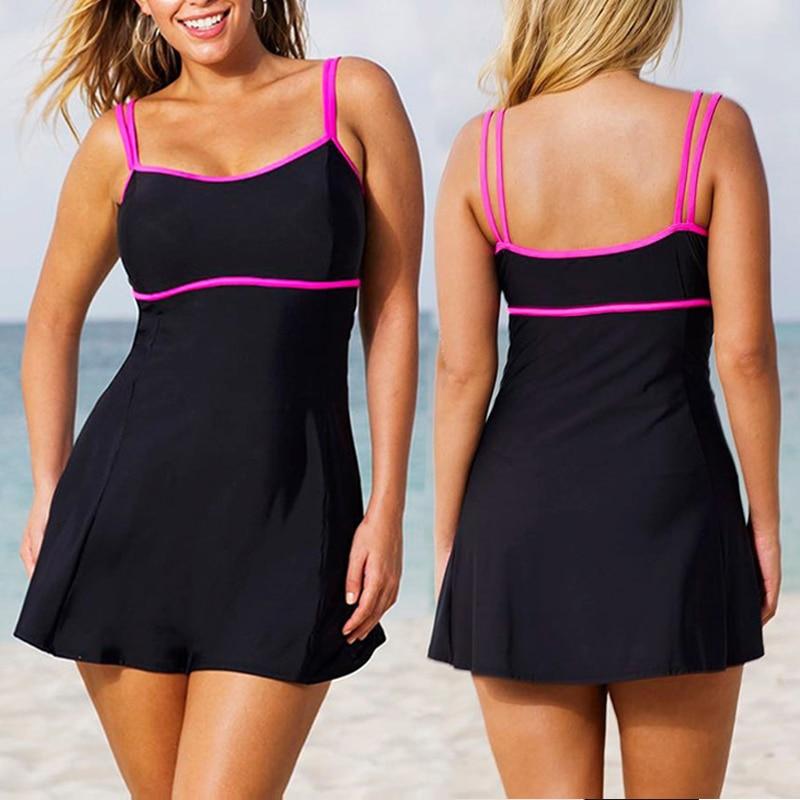 Hot Sexy 5XL Womens Swimwear Large Sizes Padded Bikini Set 2 Piece Plus Size Bathing Suits Skirt Swim Swiming Suits Polka Dot