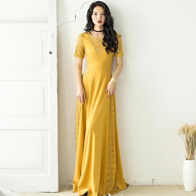 60a66ecdb9860 US $55.0 |VERRAGEE Designer Brand Women New 2017 Vintage Elegant Lace Party  Dress Big Size Short Sleeve Summer Casual Long Sexy Maxi Dress-in Dresses  ...