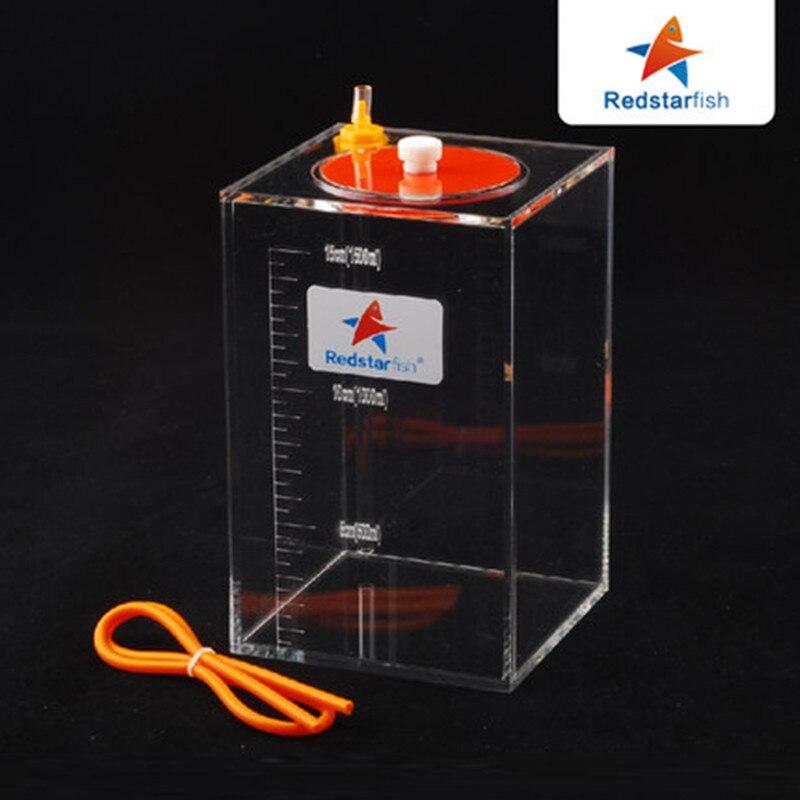 Estrela Do Mar vermelha Escala Balde De Armazenamento De Líquido Da Bomba de Dosagem Com Escala 1.5L/2.5L/4.5L Litros Alta Qualidade Acrílico feito recife