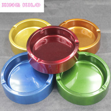 XINGKILO Thick stainless steel ashtray Copper gold orange colorful simple fashion round thick soot Bar Internet cafe home office