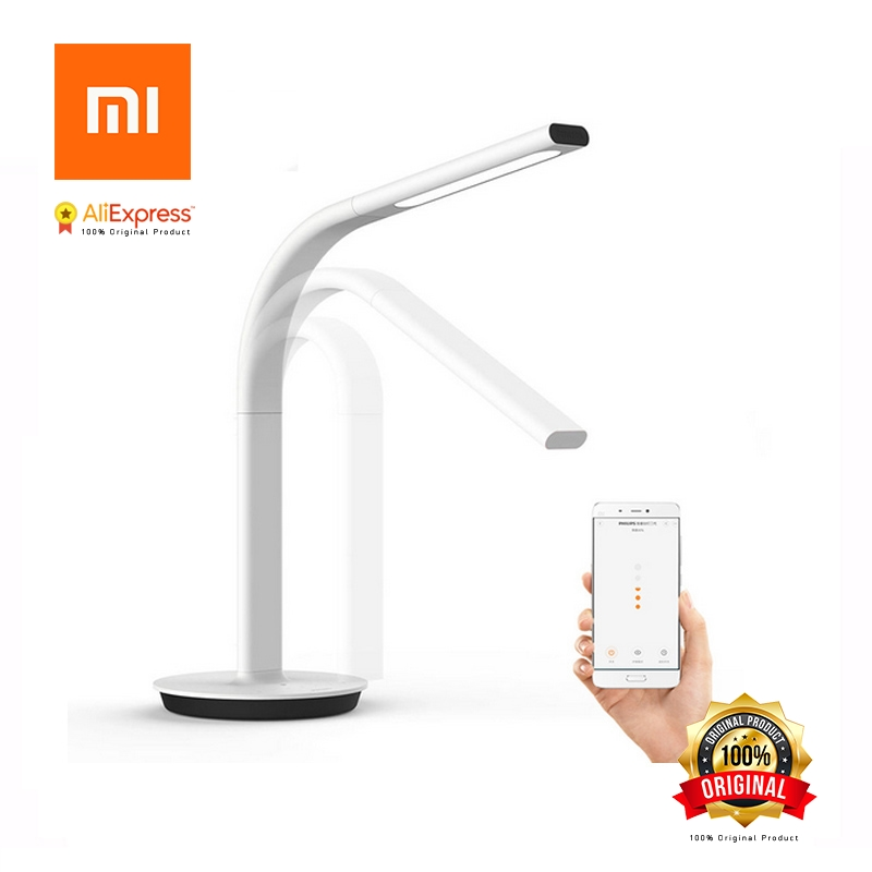 Original Xiaomi Smart Table Lamp 2 Mijia LED Light Desk Lamp Eye Care Desklight Dual light Support Smartphone App Remote Control original xiaomi mijia led desk lamp smart table lamps desklight support mobile phone app control 4 lighting modes reading led