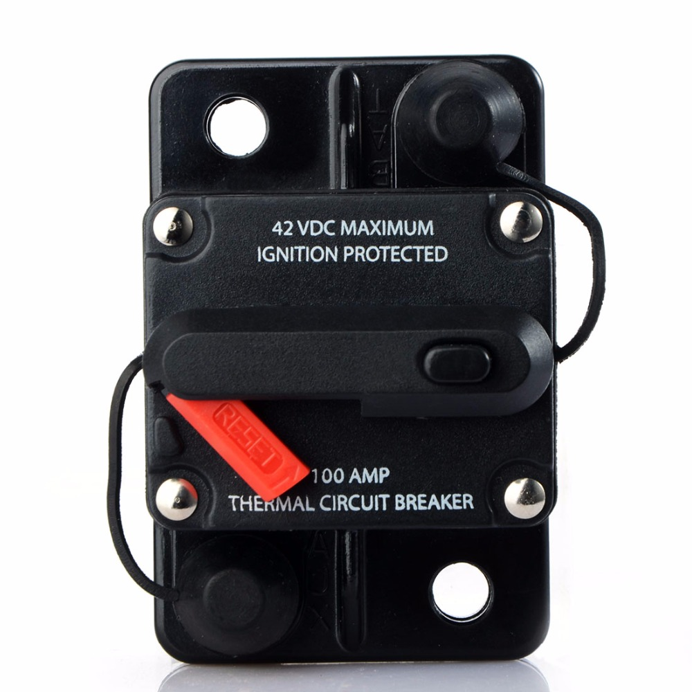 80A 100A 150A 200A 250A Amp Car Auto Audio Marine Boat Audio Circuit Breaker DC 12V/24V/42V marine 52mm ammeter amp gauge with current sensor for motorcycle car marine boat yacht with backlight 12v 24v 150a 80a