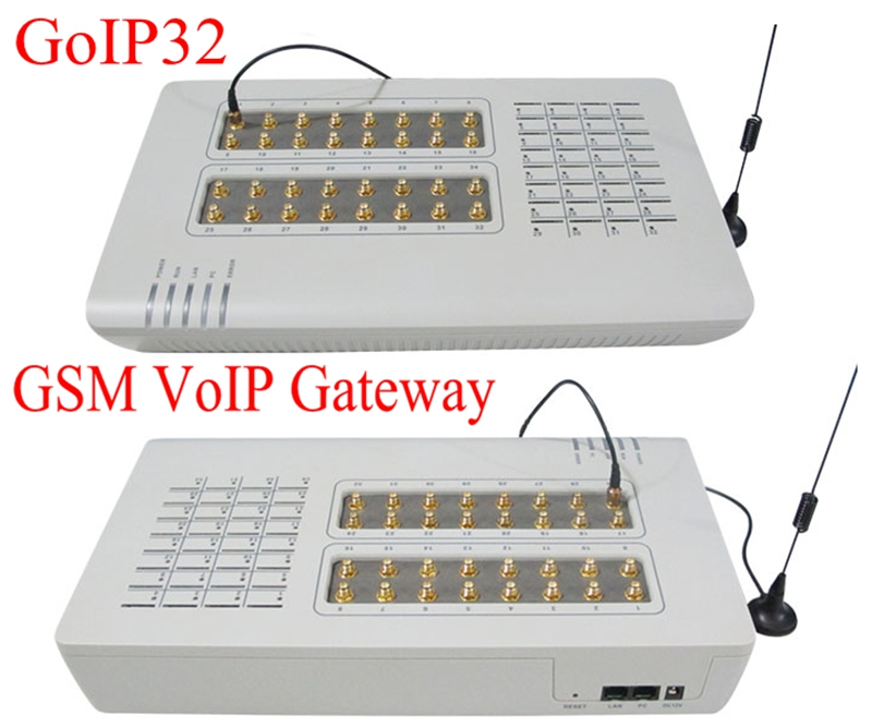 32 SIM Cards Channel GOIP32 VOIP GSM Gateway 32 Chips GOIP IMEI change support sim bank -Hot sell 2019 free server remote control manager voip product smb128 sim bank gateway box