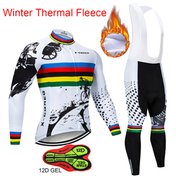 2018 Hot X-CQREG Winter Thermal Fleece Cycling Jersey Long Sleeve Jerseys Cycling Bib Pants Set Bike Bicycle Cycling Clothes