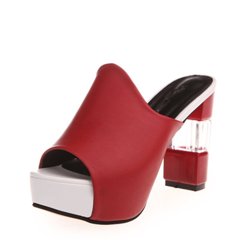 Flops Red Roma 35 Zapatos Alto Mujeres Flip Del Las Xjrhxjr Moda white Tacón 40 black Gran Dedo De Pie Tamaño 2019 Verano Sandalias AnZqCxRw