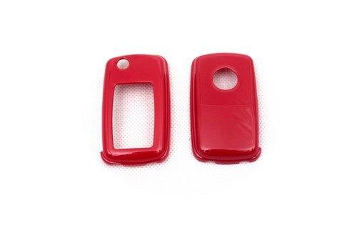 Жесткий Пластик БЕСКЛЮЧЕВОЙ дистанционный ключ защитный кожух(глянцевый красный) для Фольксваген MK4/MK5