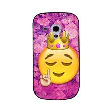 Funny Queen Emoji Cool Popular UV Black Bag Case For Samsung S3 mini