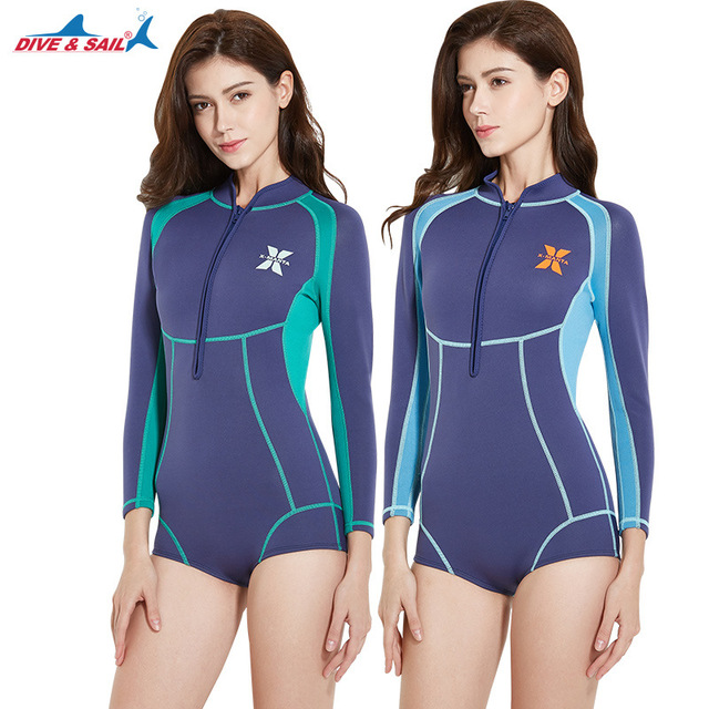 2836f9e190913 1.5MM diving suit women s jellyfish clothes sunscreen surf winter warm swimsuit  Neoprene Professional Rash Guards Surf Suit Wet. 1 order