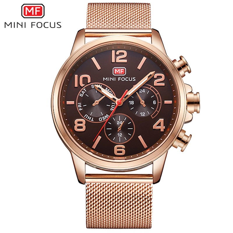 MINIFOCUS Brand Steel Men Watches Fashion Business Waterproof Quartz Wrist Watch Men Clock Male reloj hombre relogio masculino