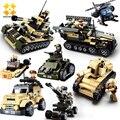 Wmx diy 8 en 1 bloques huecos de eductional tanque militar del ejército niños juguetes para niños bloques compatibles con las principales marcas