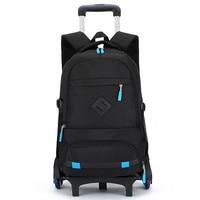 2/6 Wheels New Children School Bags Trolley Backpacks For Boys Schoolbag Kids Luggage Bag On Wheels Backpack Men Bolsas Mochila