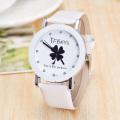 Wholesale Sale TFBOYS 4 Clover Pattern Quartz Watch Women Dress PU Leather Watches Clock 100pcs/lot Relogio Feminino
