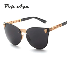 Pop Age Luxury Gothic Sunglasses Crystal Steampunk Sun glasses High Quality Women Men Cat Eye Punk Eyewear Retro lentes Shades