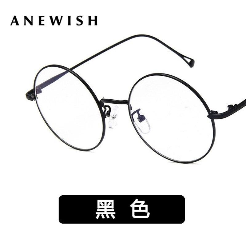 New Pattern Round Metal Plain Glass Mirror Korean Trend Joker Glasses Frame Student Match Myopia Kick Off Glasses