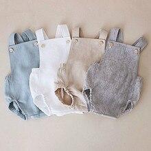Комбинезоны для маленьких мальчиков, Летний комбинезон для маленьких девочек хлопковый однотонный комбинезон для новорожденных, цельные детские подтяжки для мальчика, комбинезоны, одежда для маленьких мальчиков
