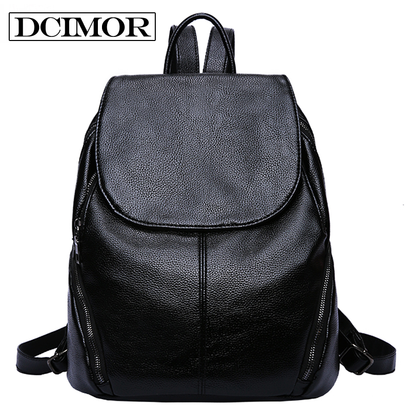 DCIMOR Women Backpack High Quality PU Leather Mochila Escolar School Bags For Teenagers Girls Top-handle Backpacks preppy Style retail 1pc 2015 new children backpacks hello kitty school bags sweet bows pu leather school backpacks for girls mochila escolar