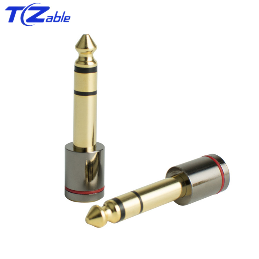 6.35 Plug 6.5mm Male To 3.5mm Female Audio Adapter Gold Plated Hifi Headphones Jack Stereo Microphone Earphone Audio Connector