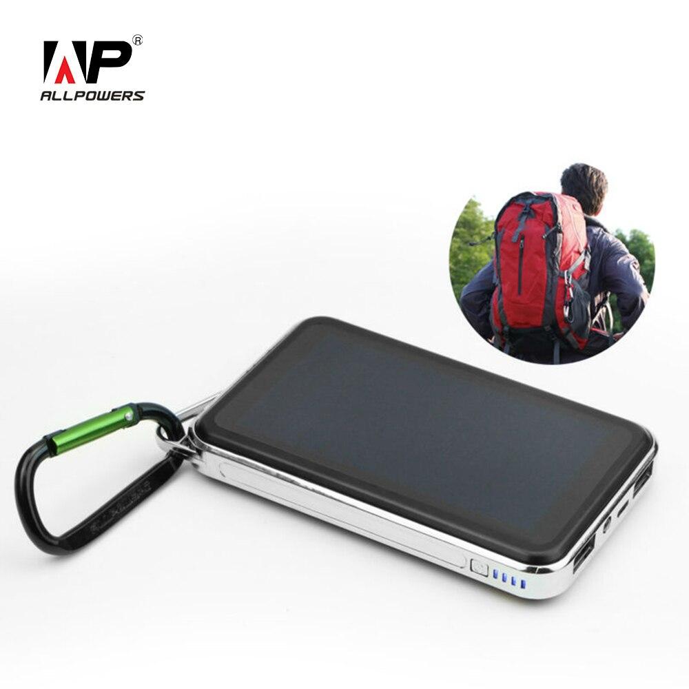 imágenes para Allpowers 15000 mah batería exernal solar banco de la energía solar al aire libre cargadores de teléfonos solares para smartphone tablets pc, etc.