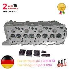 AP01 New Engine Cylinder Head For Mitsubishi L200 K74/ for Shogun Sport K94 2.5TD MD303750 MD307718 MD348983 MD354559 MR984455