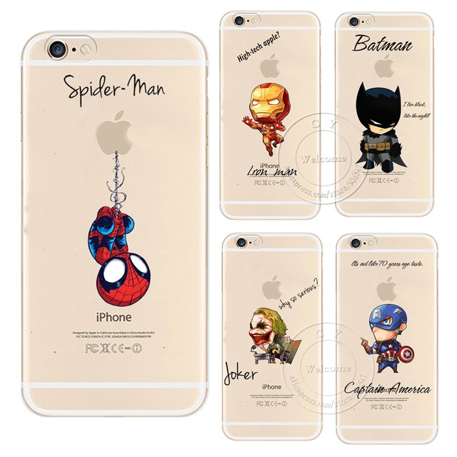 first rate 35427 25658 Cartoon Cool Marvel Avengers Design Case For Apple iPhone X 4 4S 5 5S SE 5C  6 6S 7 8 Plus 6SPlus Hard Plastic Phone Cover-in Fitted Cases from ...
