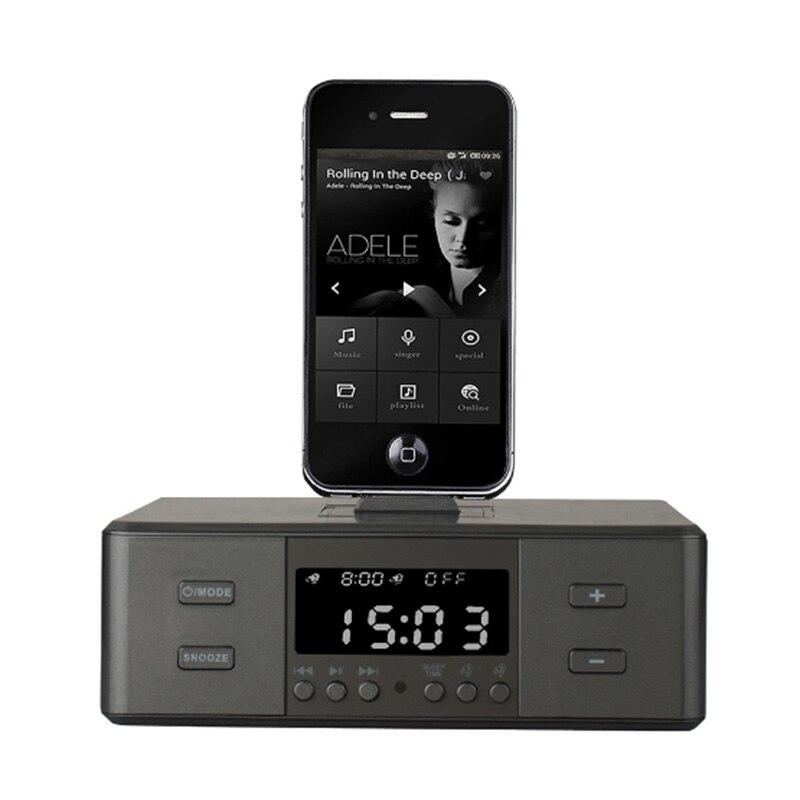 EAAGD Radio-Réveil, haut-Parleur Bluetooth Sans Fil, réveil numérique USB Chargeur pour la Chambre À Coucher avec la Radio de FM/Port De Chargement USB