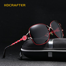 2017 New Arrival Hdcrafter Oval Alloy Women Adult Polaroid Sunglasses