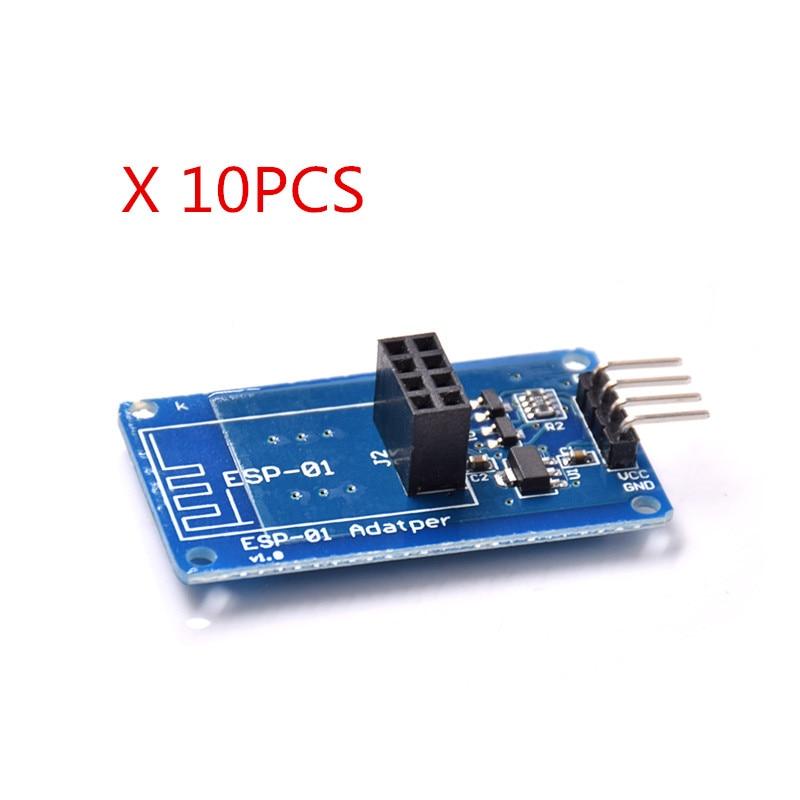 10pcs/lot ESP8266 Serial WiFi Wireless ESP-01 Adapter Module 3.3V 5V Compatible Serial Module esp01 programmer adapter uart gpio0 esp 01 adaptaterr esp8266 usb to esp8266 serial wireless wifi developent board module