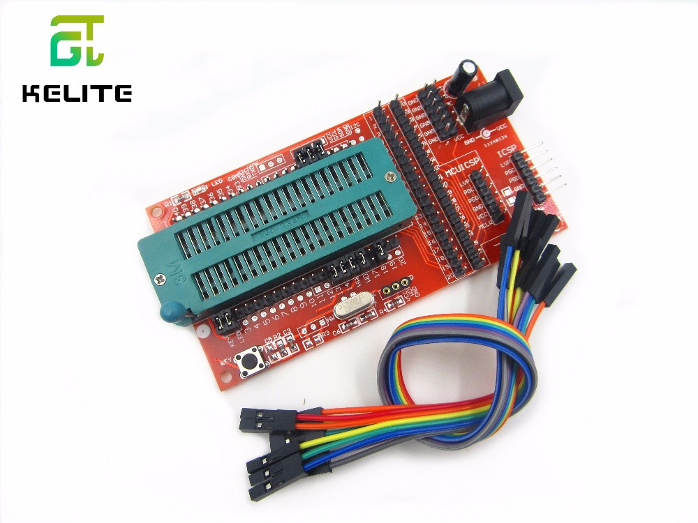 PIC Microcontroller Minimum System Board Development Board Universal Programmer Seat ICD2 KIT2 KIT3 FOR PICKIT 2 PICKIT3 FZ0509 домкрат белак бак 00531 2т