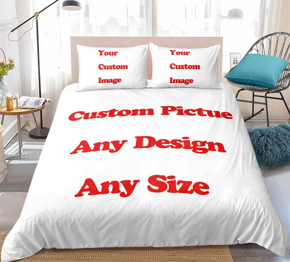 Interesting Creative Customized Custom Design Custom Image 3d Bedding Set Duvet Cover Set Digital Printing Bedding Sets    - AliExpress