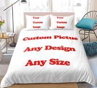Interessante creativo personalizzato Design personalizzato immagine personalizzata Set biancheria da letto 3d Set copripiumino stampa digitale