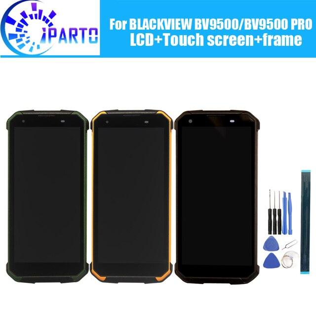 BLACKVIEW BV9500 LCD ekran + dokunmatik ekran Digitizer + çerçeve meclisi için 100% orijinal yeni LCD + dokunmatik Digitizer için BV9500 PRO