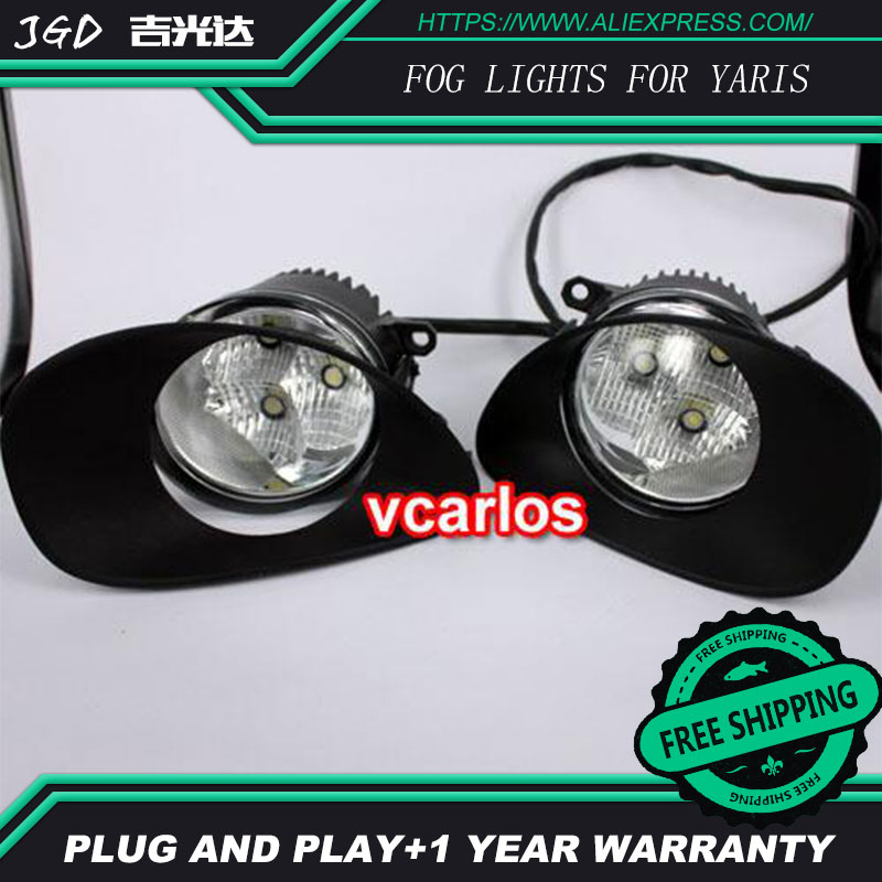 2PCS / Pair LED Fog Light For Toyota YARIS 2006-2008 High Power LED Fog Lamp Auto DRL Lighting Led Headlamp a suit of graceful rhinestone water drop necklace bracelet ring and earrings for women